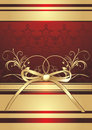 Free Golden Bow With Ornament. Decorative Wrapping Stock Photography - 14597612