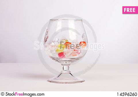 Free Color Candies In Glass Stock Photo - 14596260