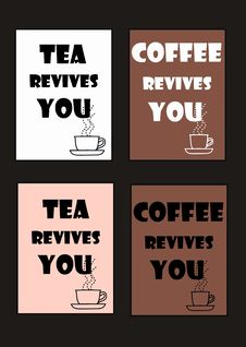Coffee And Tea Pattern Royalty Free Stock Images