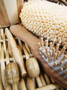 Free Wooden Spa Objets Royalty Free Stock Images - 14590389