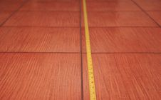 Free Tile For Floor With Ruler Royalty Free Stock Photo - 14591685