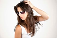 Free Sexy Young Woman In Sunglasses Royalty Free Stock Image - 14592176