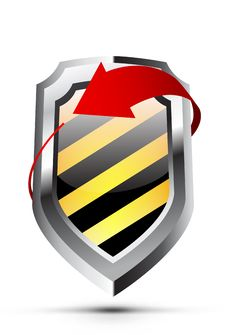 Free Glossy Shield Emblem With Arrow Royalty Free Stock Photo - 14592195