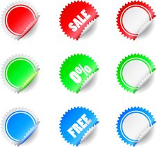 Free Badges And Stickers Royalty Free Stock Photo - 14592215