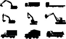 Free Silhouettes Of Cars, Motorcycles And Buses Stock Photos - 14592343