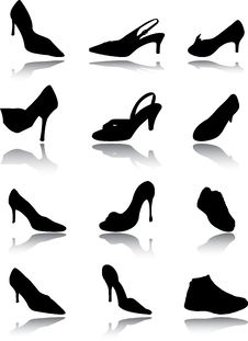 Free Footwear A Set Royalty Free Stock Image - 14592376