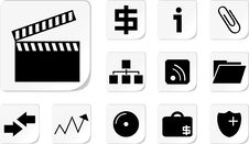 Free Web Icon Buttons Collection Royalty Free Stock Images - 14592439