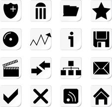 Free Web Icon Buttons Collection Royalty Free Stock Image - 14592446