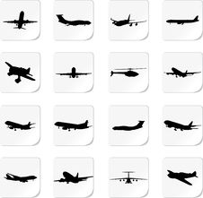 Free Set The Plane. A Vector. Stock Image - 14592451