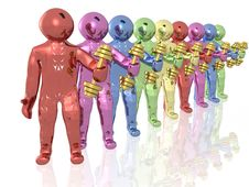 Free Colored Mans With Dumbbells Stock Image - 14593031