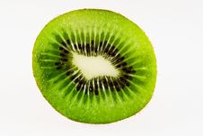 Cut Kiwi Fruit Royalty Free Stock Photo