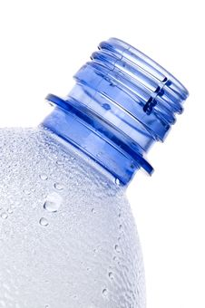 Free Steamy Blue Plastic Bottle Neck Royalty Free Stock Photo - 14593925