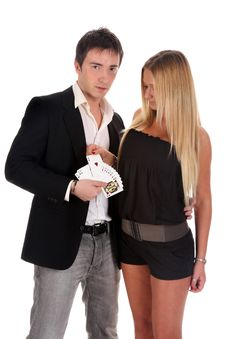 Free Magician Make Performance Cards Stock Photo - 14594210