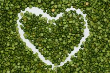 Free Heart On Pea Background Stock Images - 14594254