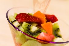 Free Fruit Salad With Kiwi,strawberry,papaya Stock Photos - 14594393