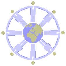 Free Earth Globe Set 008 Stock Photos - 14595453