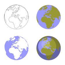 Free Earth Globe Set 001 Stock Photography - 14595462