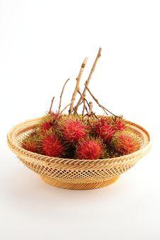 Free Rambutan In Basket Stock Photography - 14596952