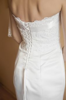 Free Wedding Dress Detail Royalty Free Stock Photography - 14597307
