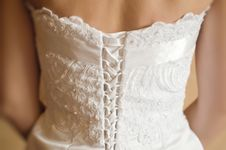 Free Wedding Dress Detail Royalty Free Stock Photos - 14597318