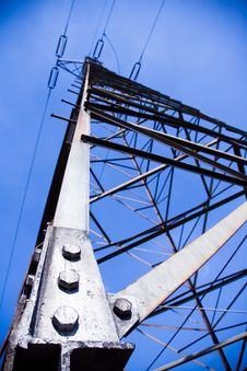 Free Silhouette Of Electricity Pylon And Blue Sky Royalty Free Stock Images - 14597429