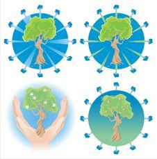 Free Several Tree Logos Stock Photo - 14597550