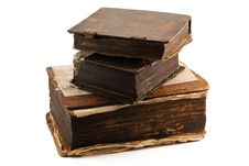 Free Stack Of Three Antique Tomes Royalty Free Stock Image - 14598116