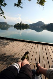 Free Relaxing On The Lake Stock Photography - 14598202