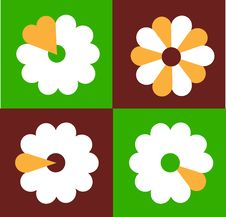 Free Shaped Flowers  Seamless Wallpaper,  Design Stock Photography - 14598252