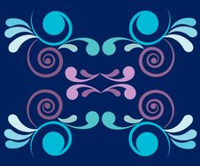 Free Retro Abstractro Floral Wallpaper  Design Royalty Free Stock Image - 14598256