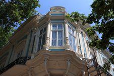 Balcony Of Old Building In Odessa Stock Photo