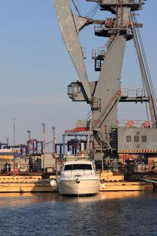 Odessa Port At Sunset Stock Image