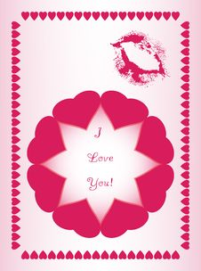Free Beautiful Design Made Of Hearts Stock Image - 14599331