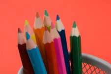 Free Colored Pencils Stock Photos - 1460083