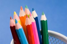 Free Colored Pencils Stock Photography - 1460112