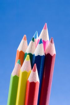Free Colored Pencils Stock Photography - 1460122