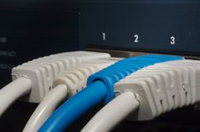 Free RJ45 Jacks In Switch Stock Photos - 1460133