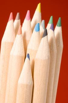 Free Colored Pencils Royalty Free Stock Photography - 1460137