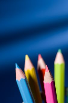 Free Colored Pencils Royalty Free Stock Images - 1460219