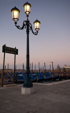 Free Gondolas Venice Royalty Free Stock Image - 1460296
