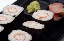 Free Food - Plate Of Sushi Royalty Free Stock Photo - 1460885
