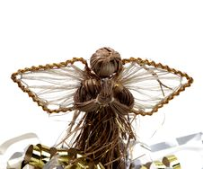 Free Christmas - Rustic Angel Decoration Royalty Free Stock Photos - 1460998