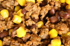 Free Taco Mix - Beef, Beans & Corn Upclose Stock Images - 1461354