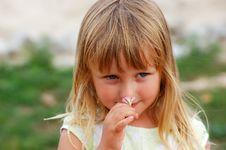 Girl In A Garden Royalty Free Stock Photo