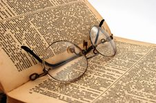 Free The Old Book With Round Glasses 3 Stock Image - 1461561
