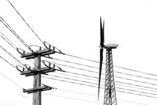 Free Alternative Energy (B&W) Stock Image - 1462291