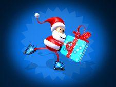 Santa Claus Skating Stock Images