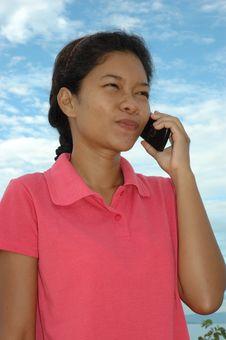 Free Beautiful Girl Talking On Mobile Phone Stock Photo - 1462920