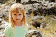 Girl In A Wild Life Royalty Free Stock Images