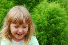 Free Girl In A Garden Stock Images - 1463294